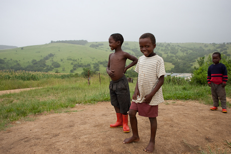 Boys on hill, Mbabane, Swaziland, 2005.