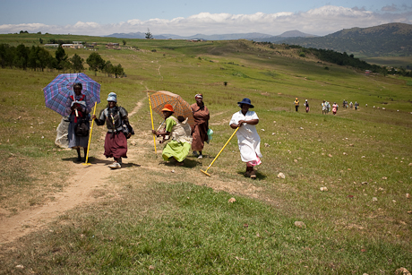 Ladies near homestead, Mbabane, Swaziland, 2005.