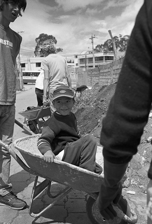 Wheelbarrow, Quito, Ecuador, 2006.