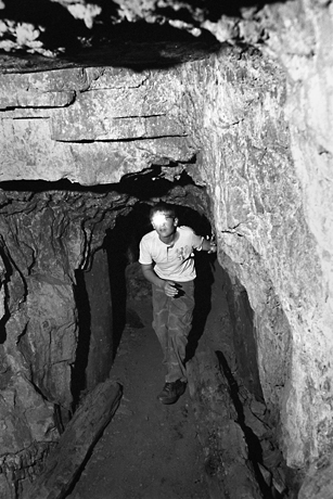 In an abondonded gold mine, Julian, California, 2010.