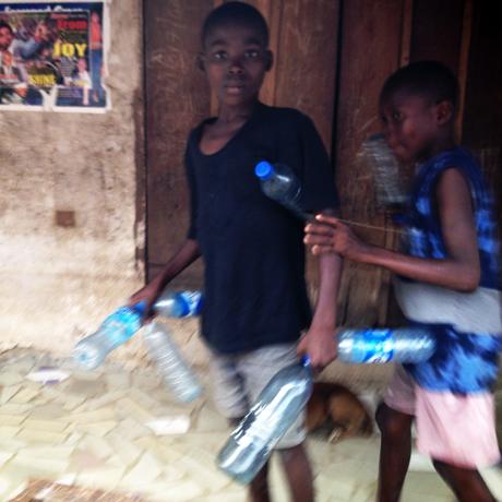 Startled boy, Port Harcourt, Nigeria, 2014.