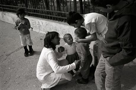Roma children. Skopje, Macedonia. 2009.