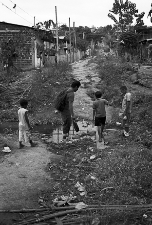 The treacherous streets. Guayaquil, Ecuador. 2011.