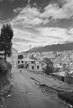 Overlooking the city. Quito, Ecuador. 2006.