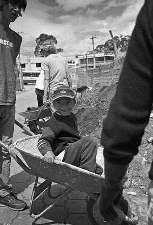 The bouncing boy. Quito, Ecuador. 2006.