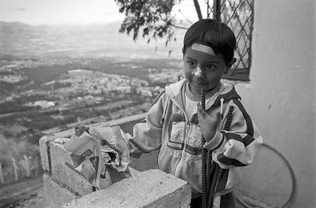 A boy at the construction site. Quito, Ecuador. 2006.
