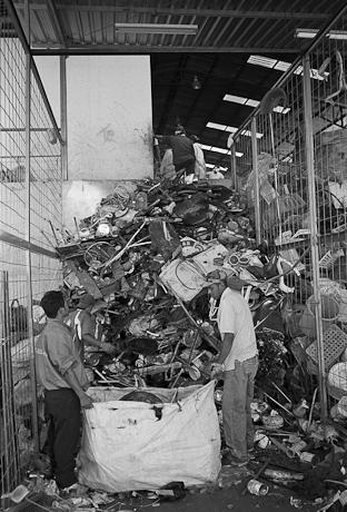 Workers at the dump. Quito, Ecuador. 2006.