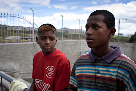Two street kids. Quito, Ecuador. 2006.