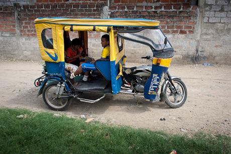 Our taxi ride. Guayaquil, Ecuador. 2011.