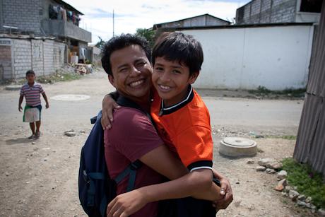 Gabriel and son. Guayaquil, Ecuador. 2011.