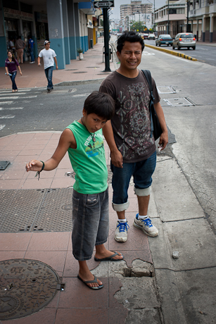 On the street waiting. Guayaquil, Ecuador. 2011.
