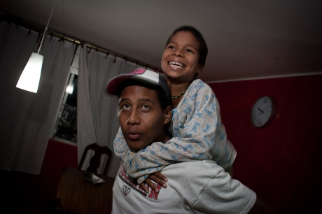 Playing in the house. Guayaquil, Ecuador. 2011.