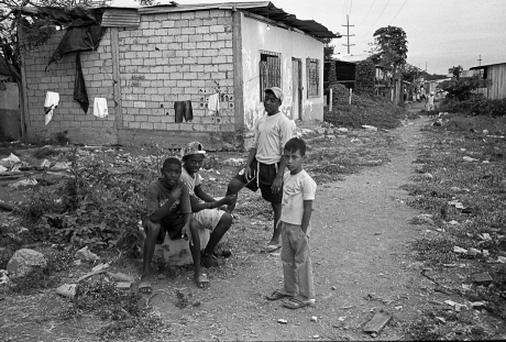 Boys hanging out in the barrio. Guayaquil, Ecuador. 2011.