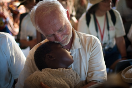 Love and kindness at the orphanage. Swaziland. 2005.