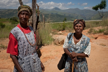 Two women by the store. Swaziland. 2005.