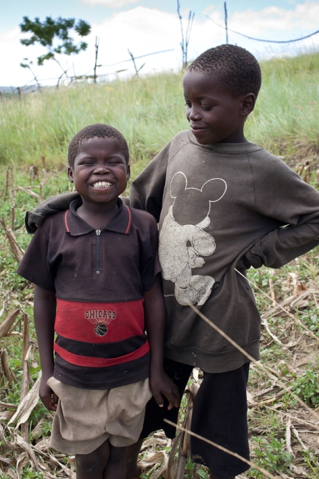 Two boys. Swaziland. 2005.