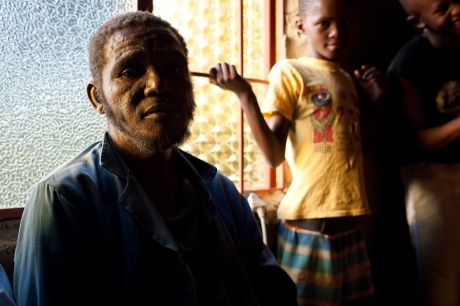 One of the orphanage workers. Swaziland. 2005.