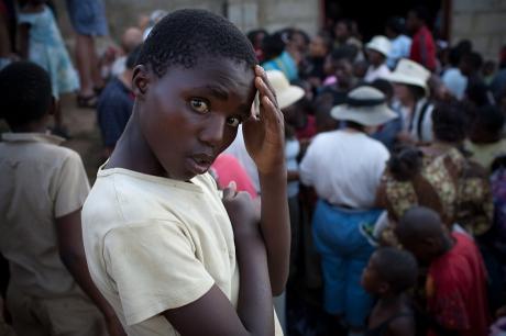 A boy among the chaos. Swaziland. 2005.