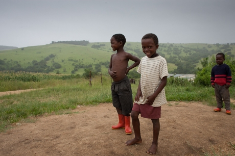 Boys on the hill. Swaziland. 2005.