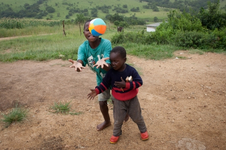 A new ball to share. Swaziland. 2005.