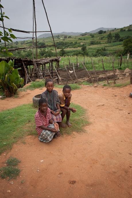 Children in the village. Swaziland. 2005.