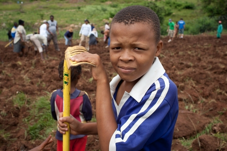 Working in the garden. Swaziland. 2005.