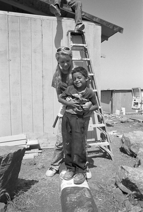 Kids at the building site. Mexico. 2006.