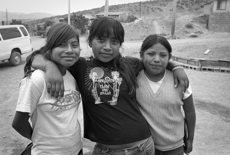 Girls at building site. Mexico. 2007.