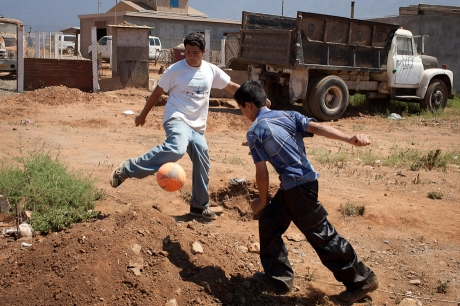 Football with obstacles. Mexico. 2006.
